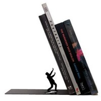"""Falling Books"" Falling Bookend Metal Bookend-Black 1 Piece"