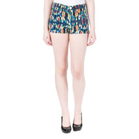 Juicy Couture Black Label Womens High Rise Cotton Casual Shorts