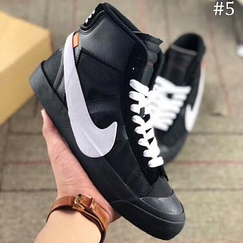 OFF-WHITE x NIKE BLAZER MID OW Joint name pioneer breathable high top shoes F-AA-SDDSL-KHZHXMKH #5