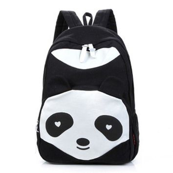 Lovely Panda Canvas Women Backpack School Bag Student Shoulder Bags For College Girls Teenagers Mochilas Casual Daypacks
