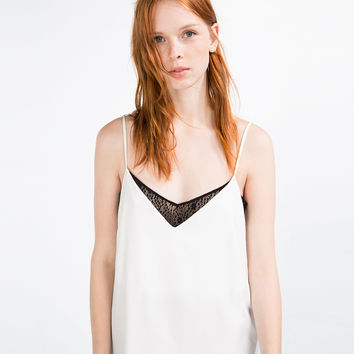 CAMISOLE TOP - Sleeveless-T-SHIRTS-WOMAN | ZARA United Kingdom