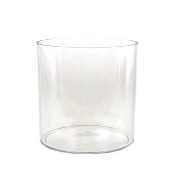 Clear Acrylic Cylinder Vase Display, 6-Inch