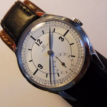 Rare Vintage OMEGA 30 JUMBO cal.266 *SECTOR*Dial Case 36mm ref.2605 Swiss Watch