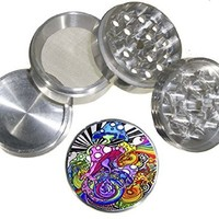 Fashion Weed Design Indian Aluminum Spice Herb Grinder Item # 110514-0039
