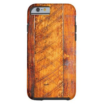 Wooden Table Pattern Tough iPhone 6 Case