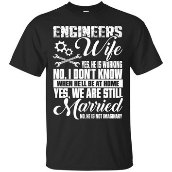 Proud Engineer Wife Shirt Gifts I Love My Engineer Shirts_Black