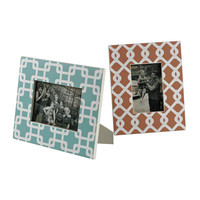 Set Of 2 Chevron Print Picture Frames