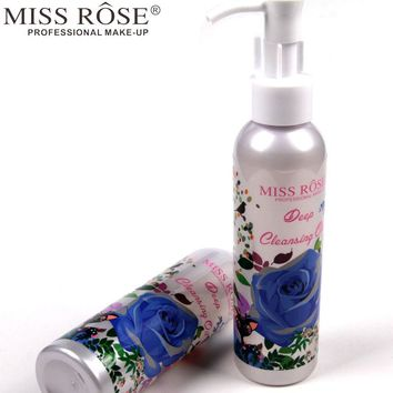 Miss Rose 1pc Makeup Remover Oil Deep Cleansing Press Pump for Eye and Lip Face Care Cleanser Gentle Zero Stimulation A158