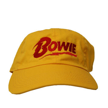 Rock Hard Vintage Bowie In Yellow