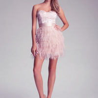 Isis Lace Feather Dress