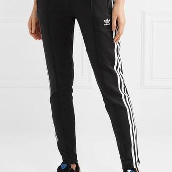 Adidas Originals Striped Satin-jersey Track Pants #87