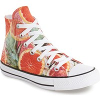 Converse Chuck Taylor® All Star® Grapefruit Print High Top Sneaker (Women) | Nordstrom
