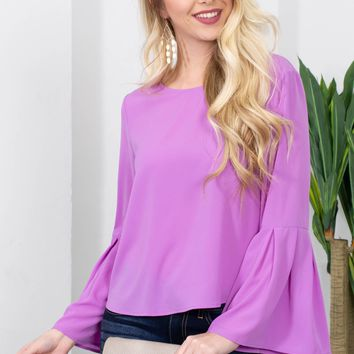 Rapunzle Bell Sleeve Top| Lilac