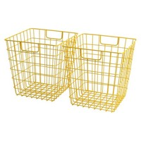 Room Essentials™ Wire Decorative Basket Set of 2 - Yellow