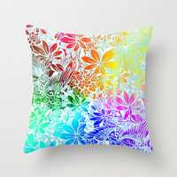 Flying Through Rainbows Throw Pillow by Vikki Salmela | Society6