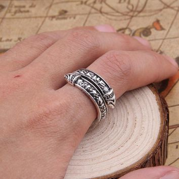 2018 Dropshiping 2 color Vikings Dragon heads weeding Ring for men Norse