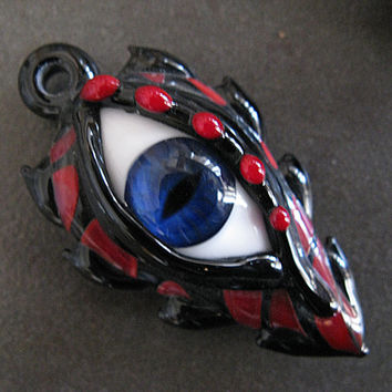 Glass Lampwork Dragon Eye Pendant