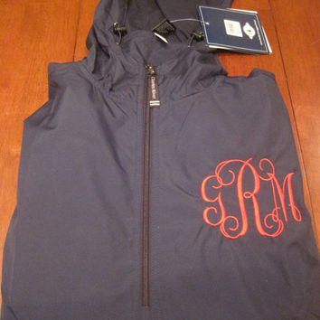 Monogrammed Charles River Pack N Go Rain Jacket, personalized, light, rain jacket, jacket, pullover, hooded