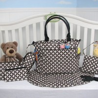 SoHo Collection, Grand Central Station 7 pieces Diaper Bag set *Limited time offer !* (Black)