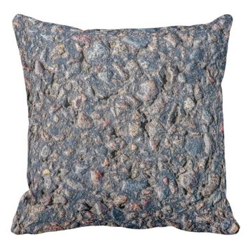 Asphalt and pebbles texture throw pillow