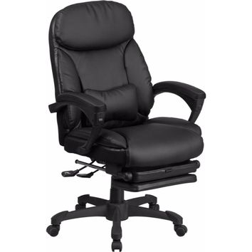 High Back Black Leather Executive Reclining Swivel Office Chair [BT-90506H-GG]