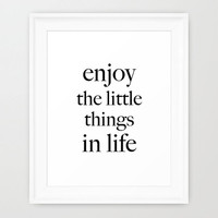 Enjoy the little things in life digital print poster art frame A4 size high res