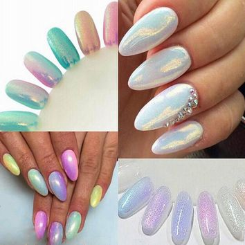 Mermaid Effect Nail Glitter Nail Art Tip
