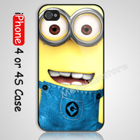 Despicable Me Minion Custom iPhone 4 or 4S Case Cover