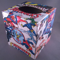 Avengers superhero comic book decoupage tissue box cover