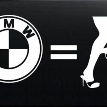BMW Equals Panty dropper JDM Decals - Custom Decals / Stickers For Cars