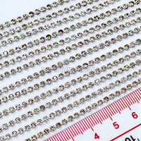 1 Box 12PCS 10CM Silver Metal Claw Chain Nail Art Rhinestones Phone Decals Tips