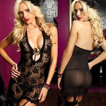 Hot Deal Cute On Sale Ladies Sexy Underwear Lace Spaghetti Strap Exotic Lingerie [6596331587]