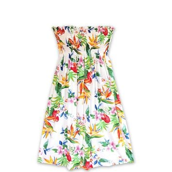 Jungle White Moonkiss Hawaiian Dress