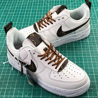Lv X Nike Air Force 1 Low White Sport Shoes - Best Online Sale