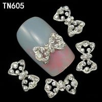 ac DCCKO2Q 10pcs 3d nail alloy decoration pierced bow design nails art glitter rhinestone decorations beauty nails toolss
