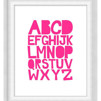 Printable Poster - ABCs Bright 'n' Bold - Vertical 8x10 - Digital Wall Art