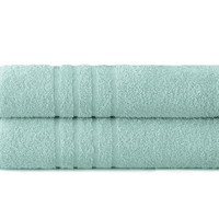 Spa Collection 100% Cotton 2 pk Oversized bath sheet Denim