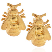 ALEX MONROEGold Vermeil Bumblebee Stud Earrings