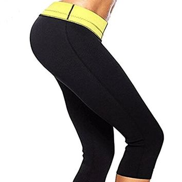 Hot Body Shaper Weight Loss Slimming Tummy Control Fitness Capri Pants