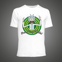 Cool Rick Morty men t shirt 2016 Summer Anime T-shirts Peace among worlds folk White Fitness Cartoon tee shirt homme