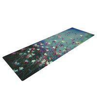 "Ann Barnes ""Monet's Dream"" Dark Flower Yoga Mat"