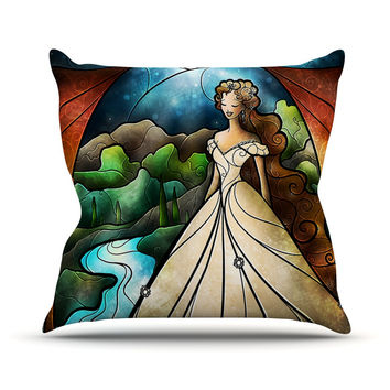"Mandie Manzano ""Think Of Me"" Princess Throw Pillow"
