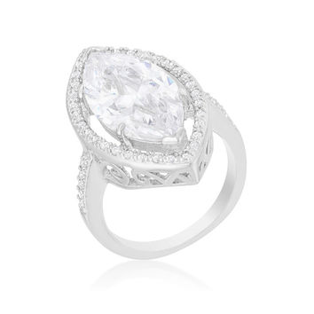 Ohara Marquise Solitaire Engagement Ring | 14  Carat | Cubic Zirconia