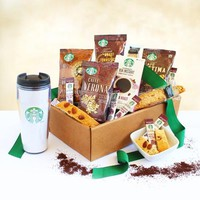 Starbucks Get Up and Go Gift Basket