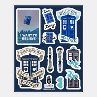 Doctor Who Tardis Stickers