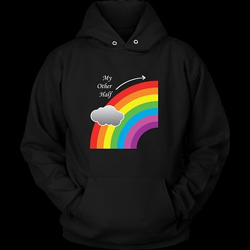Matching Couples T-shirt , My Other Half Gay Lesbian LGBT Shirt - Unisex Hoodie T Shirt - TL01292HO