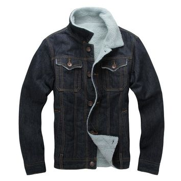 Autumn Winter Casual Lining Jean Jacket