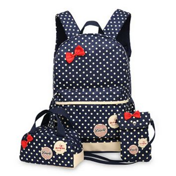 3 Pcs/Set New waterproof Girl School Bags For Teenagers backpack women shoulder bags
