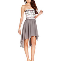 As U Wish Juniors Dress, Strapless Sequin High-Low - Juniors Dresses - Macy's