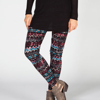 Full Tilt Ethnic Stripe Womens Leggings Multi  In Sizes